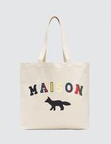 MAISON KITSUNÉ Tote Bag Maison Fox