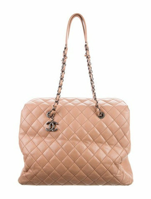 Chanel Caviar City Shopping Tote Beige