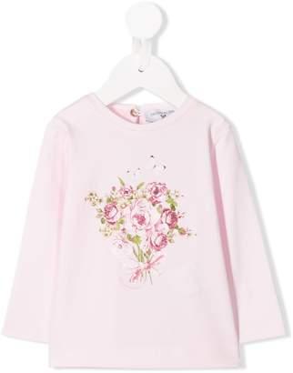 MonnaLisa floral long-sleeve top
