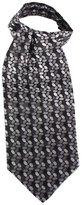 /Grey Circles Silk Cravat by Knightsbridge Neckwear