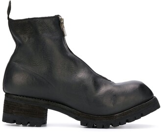 Guidi Block-Heel Ankle Boots