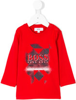 Boss Kids graphic logo print top