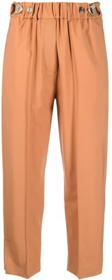 Alysi Elasticated Cropped-Leg Trousers
