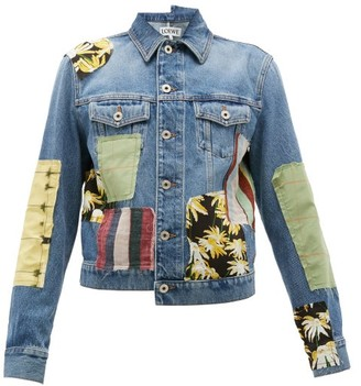 Loewe Patchwork Denim Jacket - Blue Multi