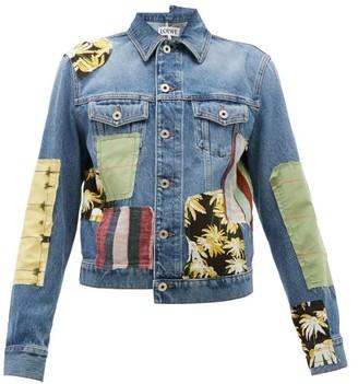 Loewe Patchwork Denim Jacket - Womens - Blue Multi