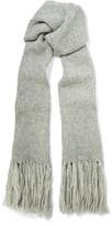 Acne Studios Abby's Fringed Alpaca-blend Scarf - Light gray