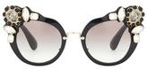 Miu Miu Embellished Cat-eye Sunglasses