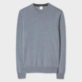 Paul Smith Men's Slate Blue Marl Cashmere Sweater