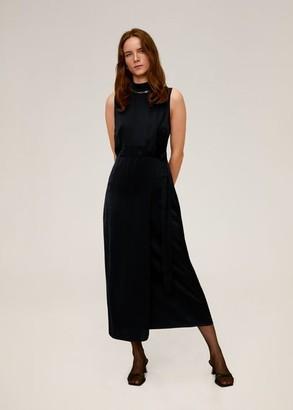 MANGO Flowy belt dress black - 4 - Women