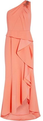 Adrianna Papell One Shoulder Crepe Gown