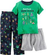 Carter's 3-pc. Bugs Pajama Set - Toddler Boys 2t-5t