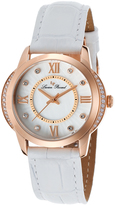 Lucien Piccard Rose Gold & White Dalida Leather-Strap Watch - Women