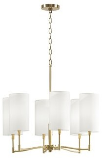 Martha Stewart Inwood 6 - Light Unique / Statement Drum LED Pendant