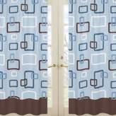 Sweet Jojo Designs Geo Window Panel Pair in Blue/Brown