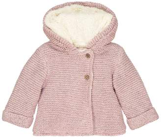 La Redoute Collections Faux Fur Lined Cardigan, Birth-2 Years