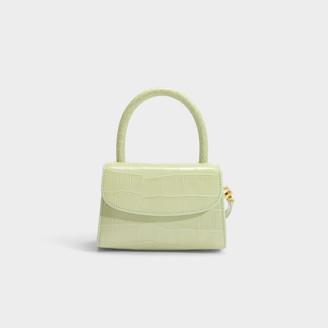 BY FAR Mini Bag In Fuchsia Circular Croco Embossed Leather