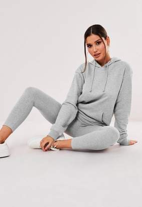 Missguided Gray Hoodie And Leggings Co Ord Set