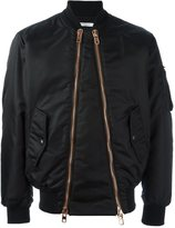 Givenchy double zip bomber jacket - men - Polyamide/Viscose - 48