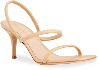 Gianvito Rossi 70mm Leather Slingback Heeled Sandals