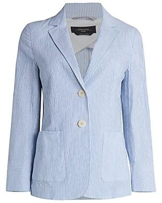 Max Mara Giubilo Pinstripe Cotton & Linen Blazer