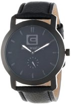 Rockwell Time Unisex CT107 Cartel Black Leather Band Black Dial Watch