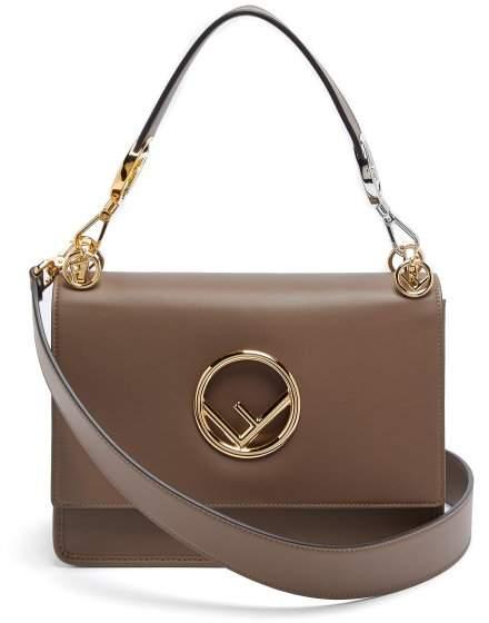 Fendi Kan I Small Leather Shoulder Bag - Womens - Brown