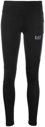 Ea7 Emporio Armani Ventus 7 mesh-insert mid-rise compressions leggings