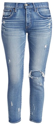 Moussy Lenwood Mid-Rise Skinny Distressed Jeans