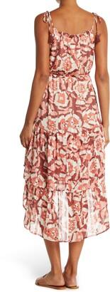 Love Stitch Sleeveless Ruffled High/Low Dress