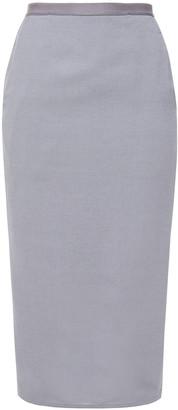 Rick Owens Wool-blend Crepe Pencil Skirt