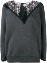 Stella McCartney lace insert jumper - women - Cotton/Polyamide - 38