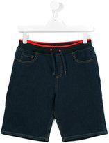 Kenzo drawstring denim shorts - kids - Cotton/Polyester/Spandex/Elastane - 14 yrs