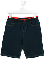 Kenzo drawstring denim shorts - kids - Cotton/Polyester/Spandex/Elastane - 16 yrs