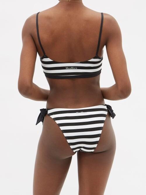 Thumbnail for your product : MAX MARA BEACHWEAR Superb Bikini Top - Black White