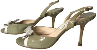 Jimmy Choo Green Patent leather Sandals