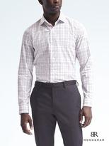 Banana Republic Monogram Grant Slim-Fit Tattersall Shirt