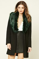 Forever 21 FOREVER 21+ Faux Fur-Lined Coat