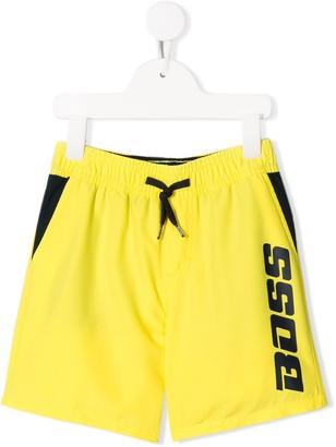 Boss Kids Logo Drawstring Swim Shorts