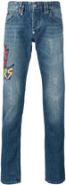 Philipp Plein embroidered patch jeans