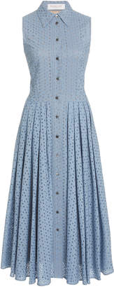 Michael Kors Sleeveless Broderie Anglaise Shirt Dress