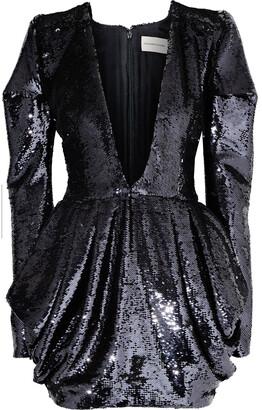 Alexandre Vauthier Draped Sequined Chiffon Mini Dress