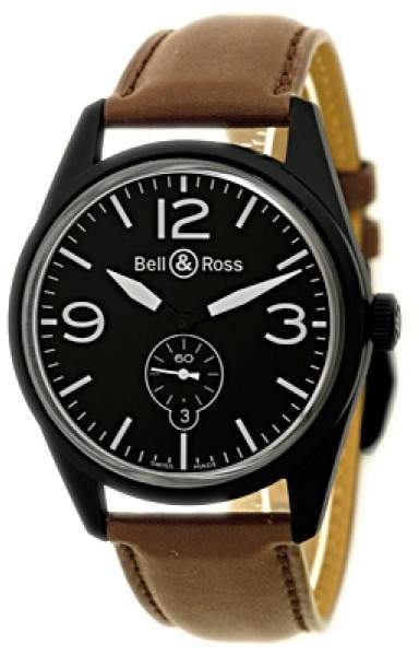 """Bell & Ross Vintage"""" Black PVD Stainless Steel Mens Watch"""