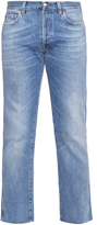 Gucci Frayed cropped jeans