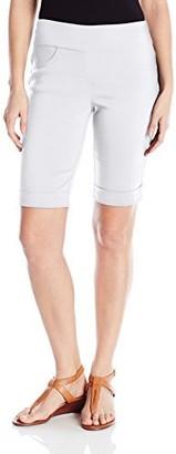 Ruby Rd. Women's Petite Pull On Solid Super Stretch Solar Millennium Tech Cuffed Short