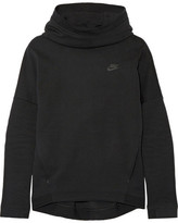 Nike Tech Fleece Cotton-blend Jersey Hooded Top - Black