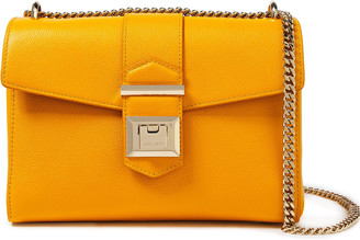 Jimmy Choo Marianne Pebbled-leather Shoulder Bag