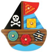 Stephen Joseph Pirate Shaped Wooden Peg Puzzle in Blue