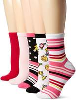 Betsey Johnson Women's Emoji and Pattern Socks 5Pack