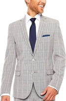Asstd National Brand Nick Graham Black White Plaid 2-pc. Suit Sets-Slim