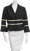 Sportmax Pleated Notch-Lapel Blazer